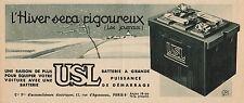 Y7143 Batterie USL - Pubblicità d'epoca - 1937 Old advertising