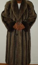 "Men's NEIMAN MARCUS 48"" Long Raccoon Fur Coat Size 40 Excell Condi FREE SHIPPING"