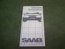 1985 1986 SAAB 900 9000 SAFEGUARD VEHICLE BREAKDOWN INSURANCE UK FOLDER BROCHURE