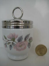ROYAL WORCESTER EGG CODDLER JUNE GARLAND PRETTY PINK ROSES ENGLAND SIZE ...small