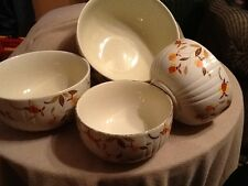 Hall Jewel Tea Autumn Leaf Nesting Bowls Mixing Bowls Kitchen Ware (4) Vintage
