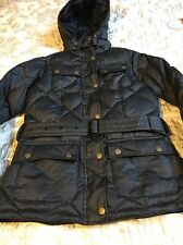 Barbour Nation Down Quilted Black Jacket Size 10