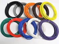 250' AUTOMOTIVE WIRE 18 AWG HIGH TEMP GXL STRANDED WIRE 10 COLORS 25 FT EA  USA
