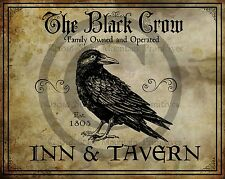 Primitive The Black Crow Inn and Tavern Print 8x10