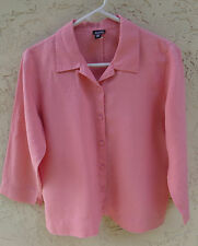 "~EILEEN FISHER sz PM ""100% LINEN"" PINK TOP SHIRT~ 40"" BUST"