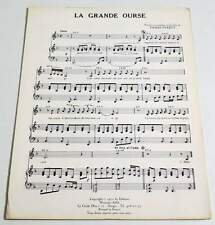 Rare partition vintage sheet music PIERRE PERRET : La grande Ourse * 70's