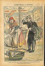 Caricature Politique Affaire Rochette Lavoir Marianne  Paris 1911 ILLUSTRATION