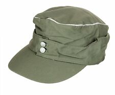 WWII 2 GERMAN WH OFFICER SUMMER PANZER M43 FIELD COTTON CAP SIZE M