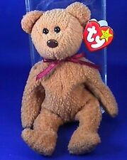 Very Rare Ty CURLY Retired Beanie Baby With Swing Tag & Protector