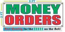 MONEY ORDERS Full Color Banner Sign NEW Larger Size Best Quality for the $$$