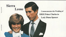 (32961) Sierra Leone Princess Diana Wedding Stamp Booklet