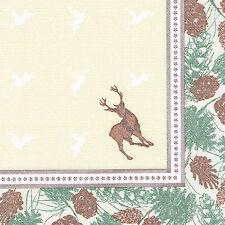 """250 Premiumservietten """"ROYAL Collection"""" 1/4-Falz 40cm Majestic Deer Party Dekor"""