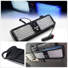 86 LED White &Blue Car SUV Sun Visor Emergency Hazard Warning Flash Strobe Light