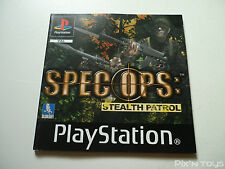 SONY PLAYSTATION 1 / Notice Instruction / Spec Ops [ Version PAL ]