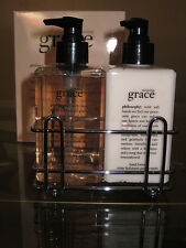 PHILOSOPHY AMAZING GRACE Hand Wash & Hand Lotion SET With Silver Sink Caddy BNIB