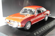 PEUGEOT 504 COUPE 1969 RED NOREV 475416 1/43 ROUGE ROT ROSSO ROADSTER DIE CAST