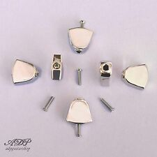 6 BOUTONS METAL TULIPES MÉCANIQUES 3x3 Knobs for GROVER Tuners NICKEL TK7722-001