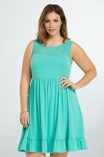 NWT Torrid Lace Seafoam Inset Sundress Casual Teal Green 4X  (PP25)