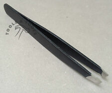 High Quality Slanted Black Eye Brow Tweezers Plucker 9 CM Length Hair Removing