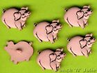 PERCY THE PIG - Farm Animals Farmer Piglet Porker Pork Dress It Up Craft Buttons