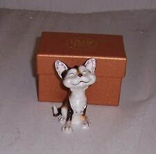 LITTLE PAWS Miniatures - figurine boxes Tabby and White Cat