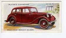 (Jr149-100) Players,Motor Cars 2nd,Riley Nine Monaco Saloon,1937 #38