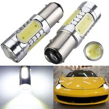 2X 1157 BAY15D 7.5W Xenon White COB LED Tail Brake Stop Light bulbs 7528 2057