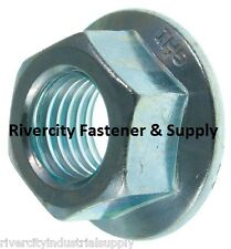 (2) M10-1.25 or 10mm x 1.25 Serrated Flange Spin / Wiz Lock Nuts Metric 2 pieces