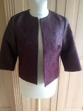 GREAT H&M BURGUNDY SPARKLEY & TEXTURED EFFECT JACKET UK SIZE 10 NWOT