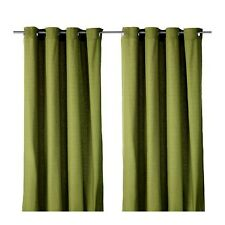"Ikea Window Curtains Drapes 2 Panels 57 x 98"" GREEN Mariam"