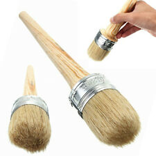 50mm Round Bristle Wooden Handle Chalk Oil Paint Painting Wax Brush Artist  UK