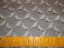 2 Yard White Cockatiel Parrot Bird Gray Argyle Quilting Sewing Cotton Fabric o