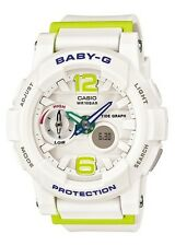 Casio Baby-G * BGA180-7B2 Anadigi GLide White & Apple Green Women COD PayPal