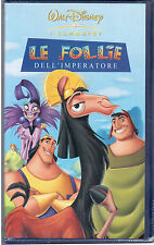 LE FOLLIE DELL'IMPERATORE  WALT DISNEY VHS NUOVA SIGILLATA 2001