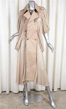 JUNYA WATANABE COMME DES GARCONS Khaki Cotton+Chiffon Trench Coat Jacket M