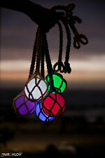 Light led poi!HANDMADE! GLOWING Crochet juggling, + free shipping + FREE gift!