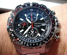 Seiko Alarm Chronograph Pilot Flight Master Men's Watch SNAD05P1