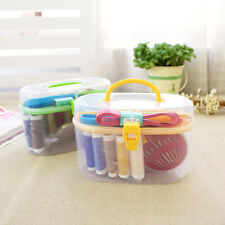 Sewing Kit Thread Threader Needle Tape Measure Scissor Thimble Storage Box Bag