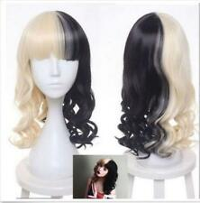 Fashion Melanie Martinez Wig Half Blonde And Black Culy Cosplay Wigs Women's
