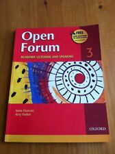 Open Forum Academic Listening and Speaking Level 3 by J.Duncan & A.Parker