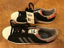 Rare Adidas Superstars 2 CB Black & White Red Bottoms Size 12 mens Shell Toes