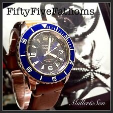 Seiko 5 Automatic Diver Sports Watch SNZH FFF Fifty Five Fathoms Blue SuperMod