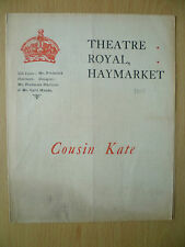 Theatre Royal Programme - Cyril Maude in COUSIN KATE & SHADES OF NIGHT