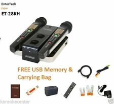 2016 MAGIC SING ET-28KH karaoke 3806 HINDI ENGLISH SONGS 2 WIRELESS MIC USB BAG