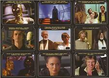 "Star Wars Galactic Files 2 - ""Classic Lines"" Set of 10 Chase Cards"