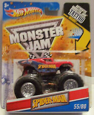SPIDER-MAN With TATTOO Hot Wheels MONSTER JAM 2011 RARE #55/80