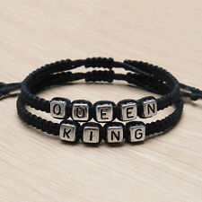 Couple Handmade Bracelets  King And Queen His Hers Charm Bracelet Bangle FG