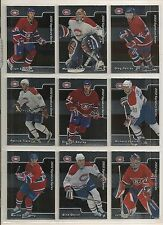 2001-02 BAP Signature Series Canadiens Team Set 11 Plus Promo & Koivu C41 Pink