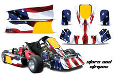 AMR Racing Paul Tracy PKT Kid JR Cadet Kart Graphic Decal Kit Parts USA FLAG