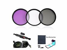 F233u Filter FLD CPL UV + Case + LensPen 46mm for SONY HDR PJ620 HDR PJ620VE